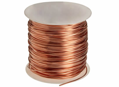 Copper wire solid stranded insulated tinned there is a spool of copper wire with shiny surface greentooth