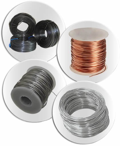 There are four different products of steel wire: annealed, copper, aluminum and galvanized wire.