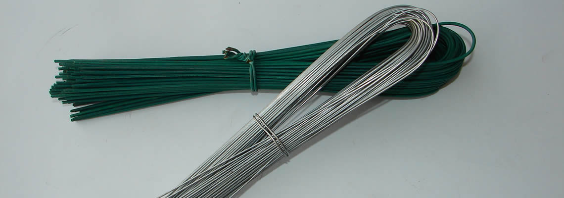 There are two types of U wires, one is green PVC coated, the other is galvanized.
